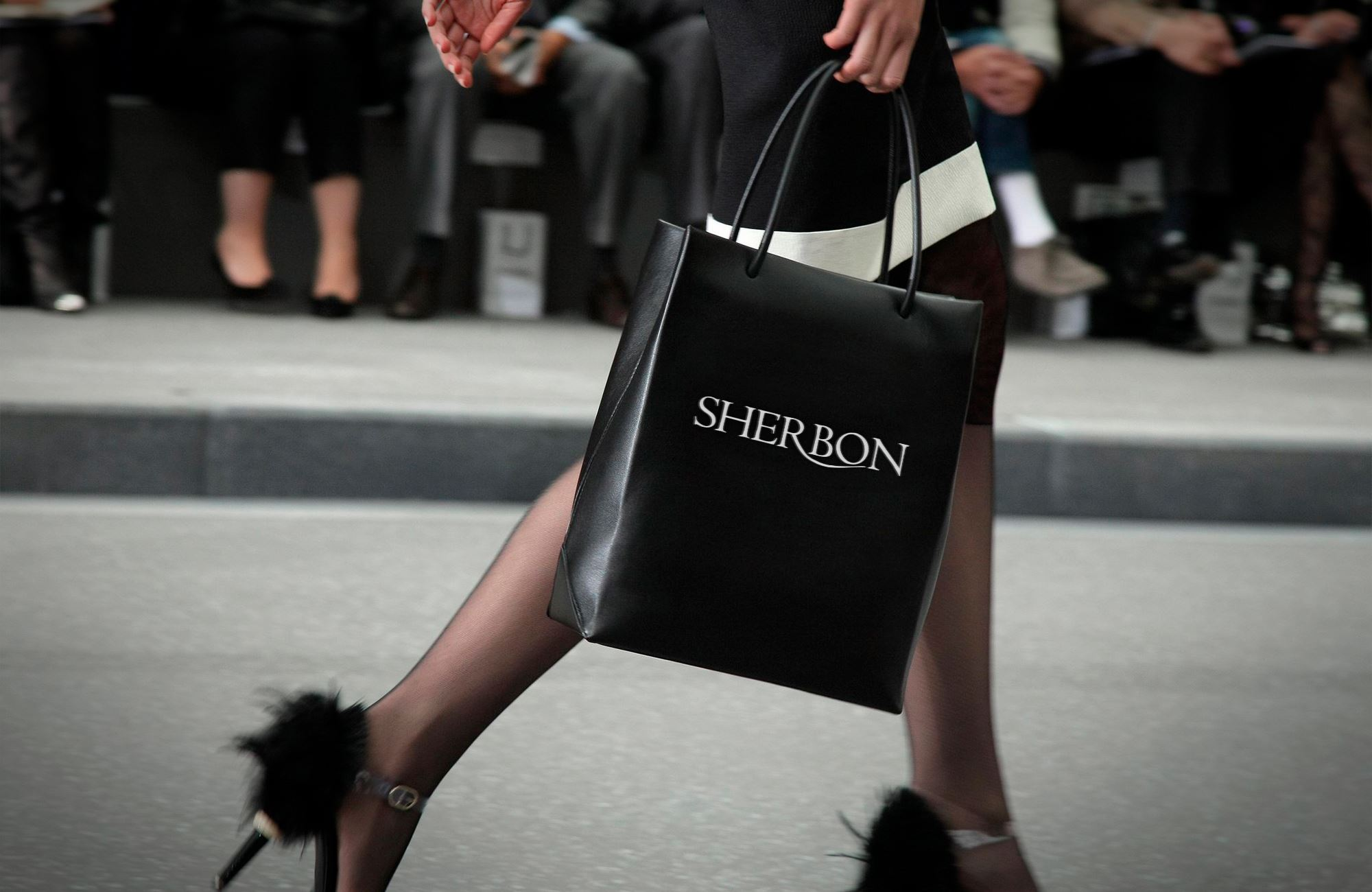 "Handmade clothes brand ""Sherbon"" shopping bag preview"